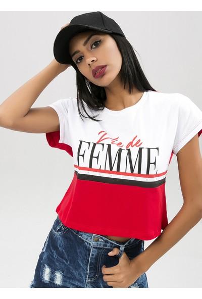 New Laviva 650-6002-1 Kadın T-Shirt