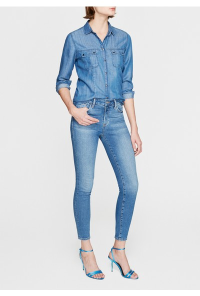 Mavi Kadın Nika Jean Gömlek