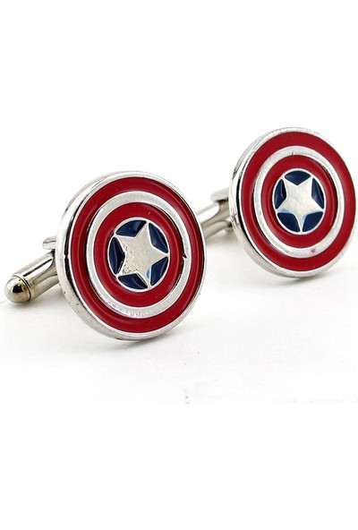 Solfera Marvel Captaın Amerıca Kalkan Shıeld Kol Düğmesi Cx184