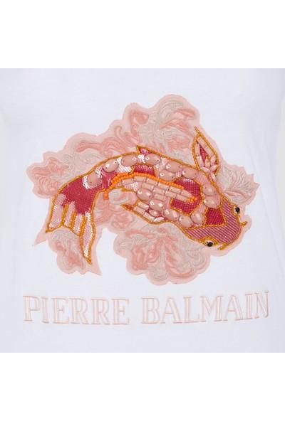Pierre Balmain Kadın T-Shirt FP18007EA8008 004