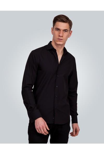 Tudors Siyah Erkek Gömlek 12797