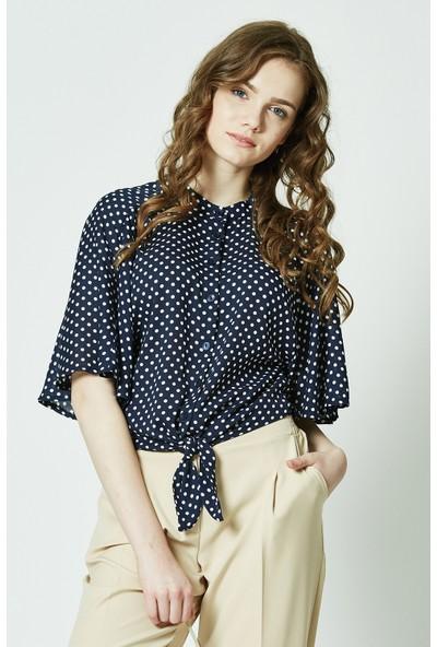 Soral Kadın Saten Bluz
