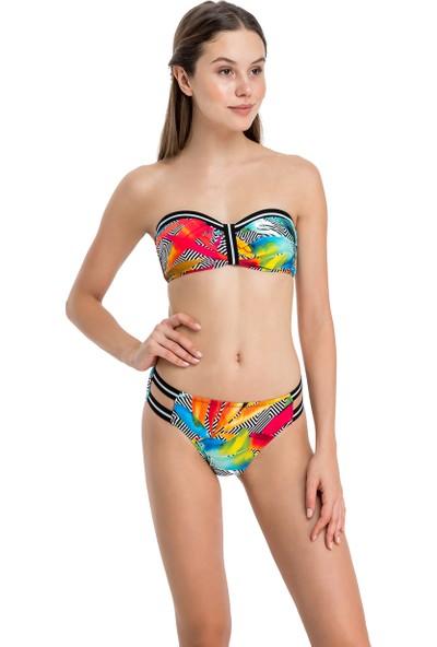Dagi Kadın Straplez Bikini Takımı Turuncu