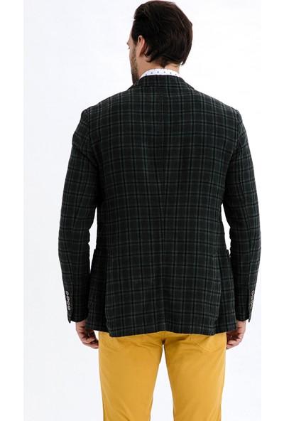 Kiğılı Erkek Ekose Ceket