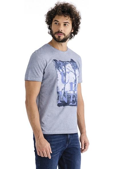 Kiğılı Erkek Bisiklet Yaka Baskılı T-Shirt