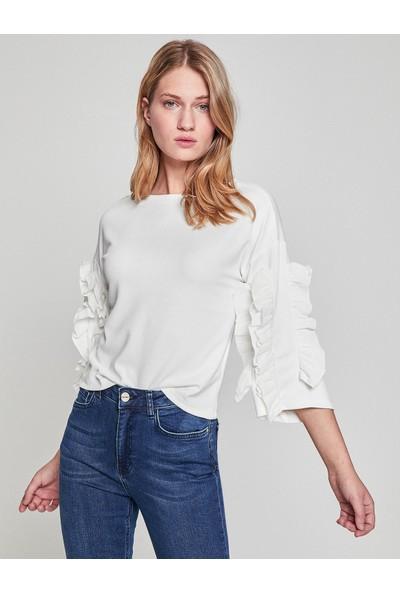 Koton Fırfır Detaylı T-Shirt
