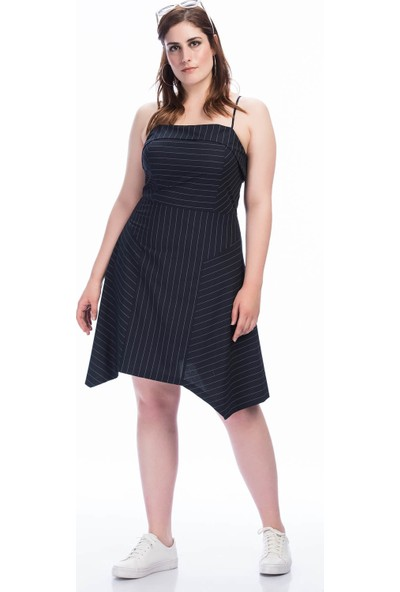 Lir Kadın Askılı Elbise 1354 Lacivert 36