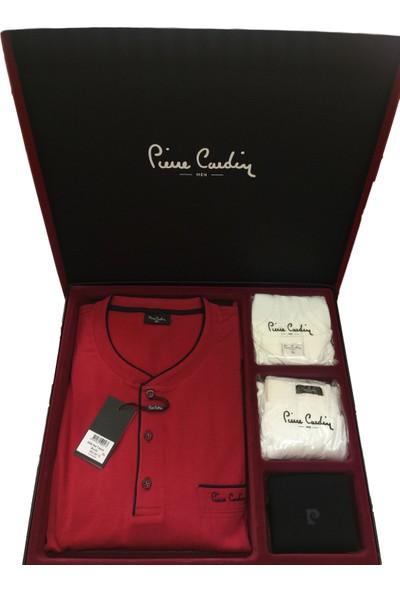 Pierre Cardin Erkek Damat Çeyiz Pijama 5 Parça Set