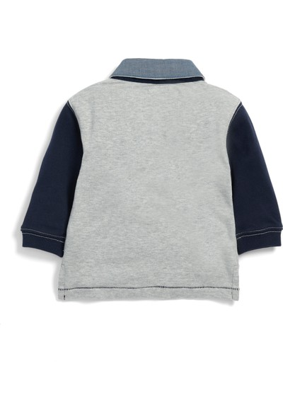 Mamas & Papas Grey Rugby T-Shirt