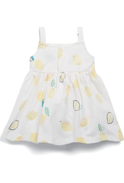Mamas & Papas Lemon Print Jersey Elbise