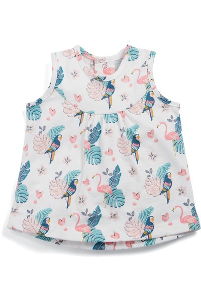 Mamas & Papas Flamingo Print Vest Bluz