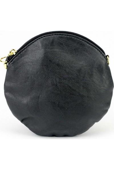 Voo Siyah Çiçek Modeli Mini El Çantası