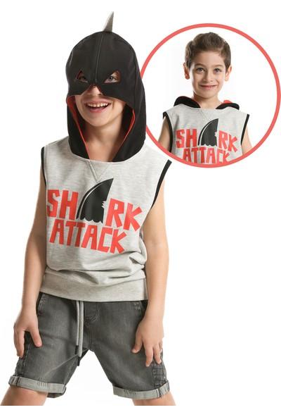 Mushi Shark Maskeli Kolsuz Sweatshirt