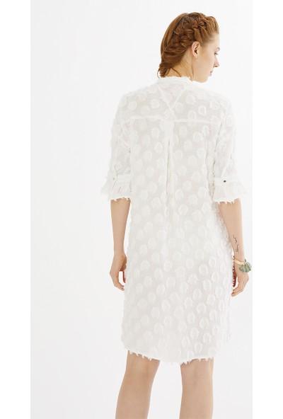 Just Like You 008 Beyaz Renkli Elbise