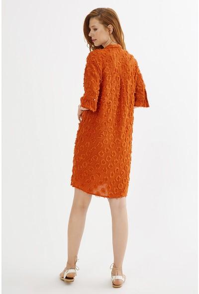Just Like You 008 Tarçın Renkli Elbise