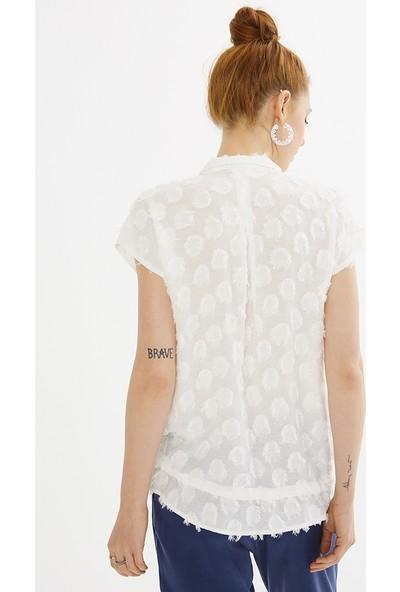 Just Like You 009 Beyaz Renkli Gömlek