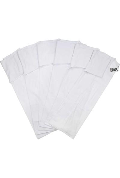 ModaKids Gümüş İç Giyim Erkek Bisiklet Yaka 6lı Beyaz Atlet 040-3004-027