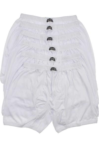ModaKids Gümüş İç Giyim Erkek Büyük Beden 6lı Beyaz Boxer 040-3057-027