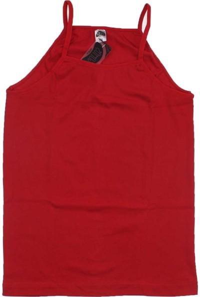 ModaKids Gümüş İç Giyim Kadın 6lı Kırmızı İpAskılı Atlet 040-4023-002