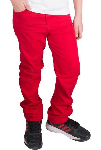 ModaKids 23 Nisan Erkek Çocuk Kırmızı Keten Pantolon 059-500-002