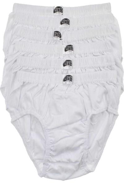 ModaKids Gümüş İç Giyim Erkek 6'lı Beyaz Kom slip 040-3006-027