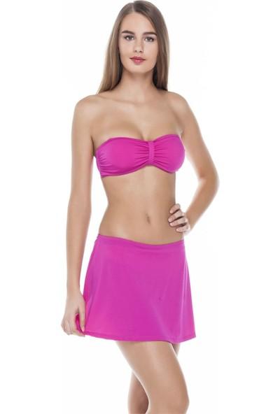 Sunset Straplez Etekli Kadın Bikini - Fuşya-V10 SN1YM1662127V1036