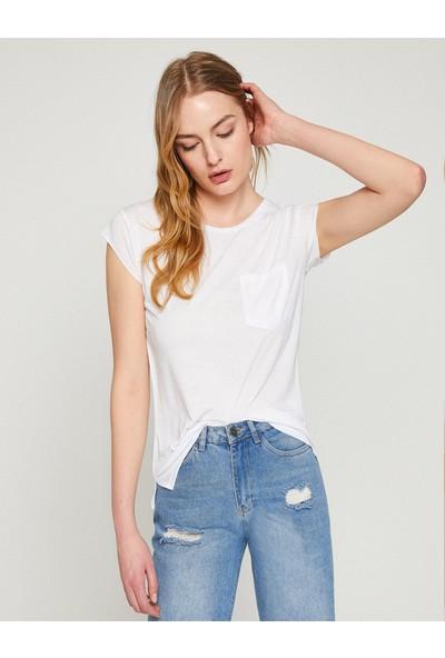 Koton Kadın Cep Detaylı T-Shirt