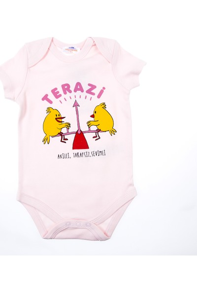 Soobe Kız Bebek Kısa Kol Badi Pembe