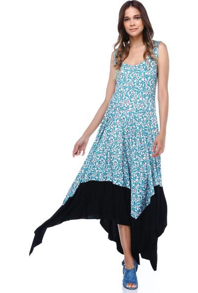 Quincey Çiçekli Asimetrik Elbise