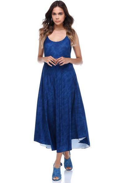 Quincey Verev Kesim Sırt Detaylı Elbise