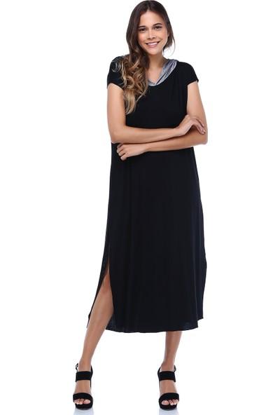 Quincey Kapşonlu Geniş Kesim Elbise