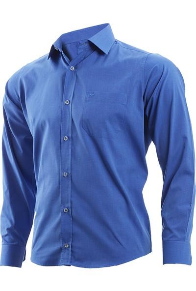 Wgust Erkek Gömlek Koyu Mavi