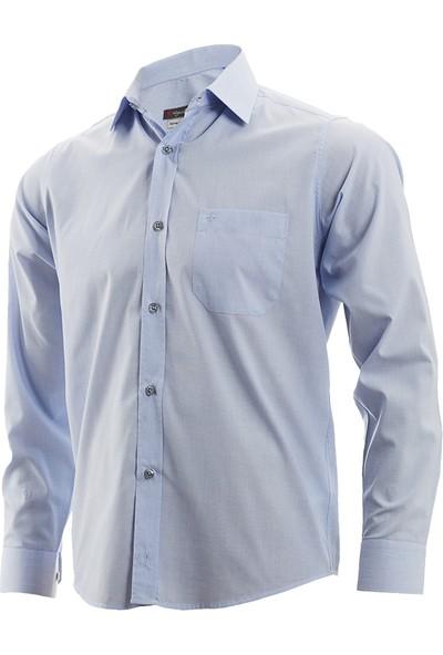 Wgust Erkek Gömlek Açık Mavi