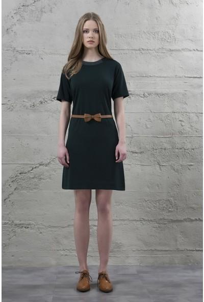 Mela D'oro Kadın Triko Yaka Reglan Kollu Elbise