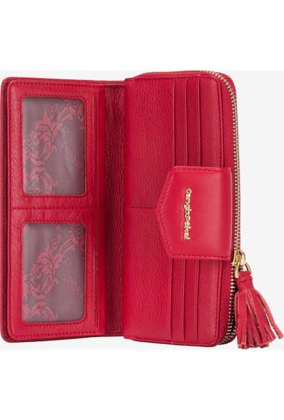Cengiz Pakel Deri Kadın Cüzdanı Kırmızı Cp0965133Drl14