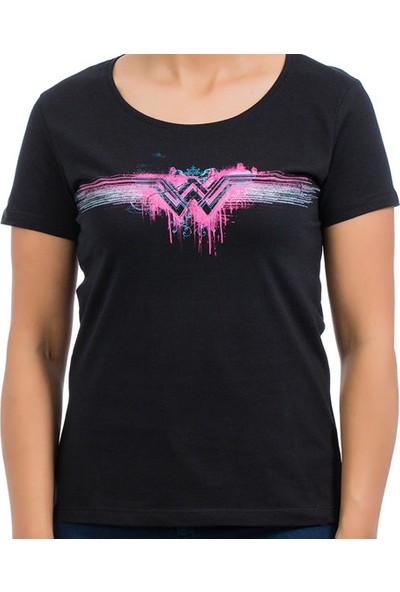 Batman v Superman Siyah Kadın T-Shirt