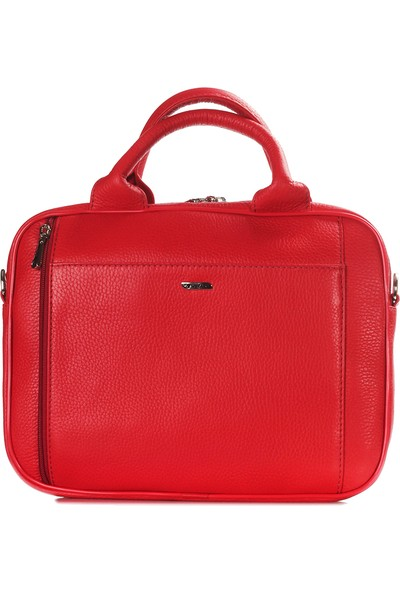 Guzini Lidya Deri Çanta Kırmızı