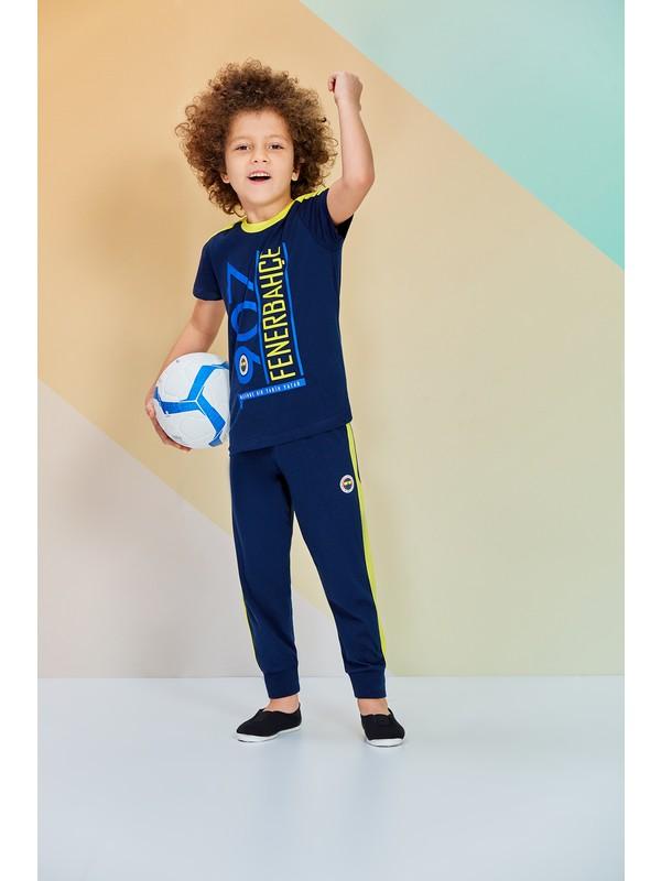 Fenerbahçe Lisanslı Unisex Çocuk Pijama Takımı Lacivert