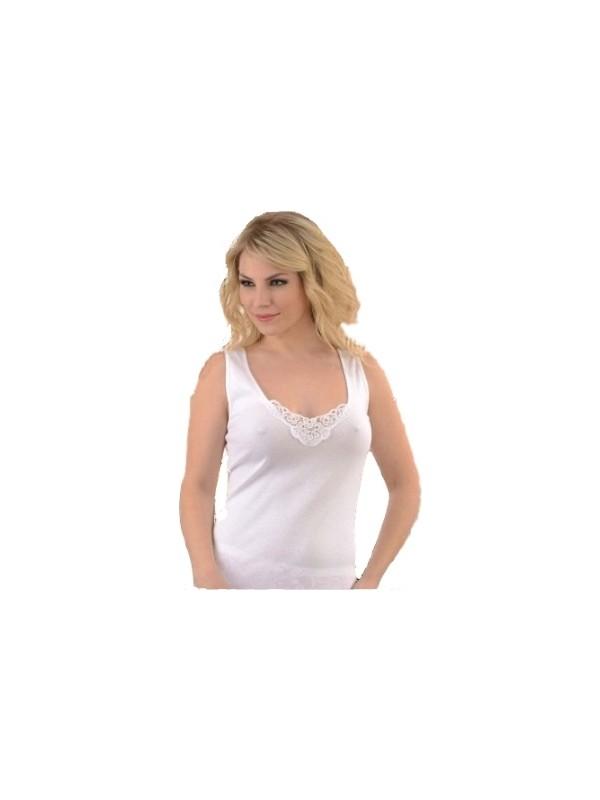 Tutku 6'lı Paket 0140 Rib. Geniş Askılı Güpürlü Kadın Atlet