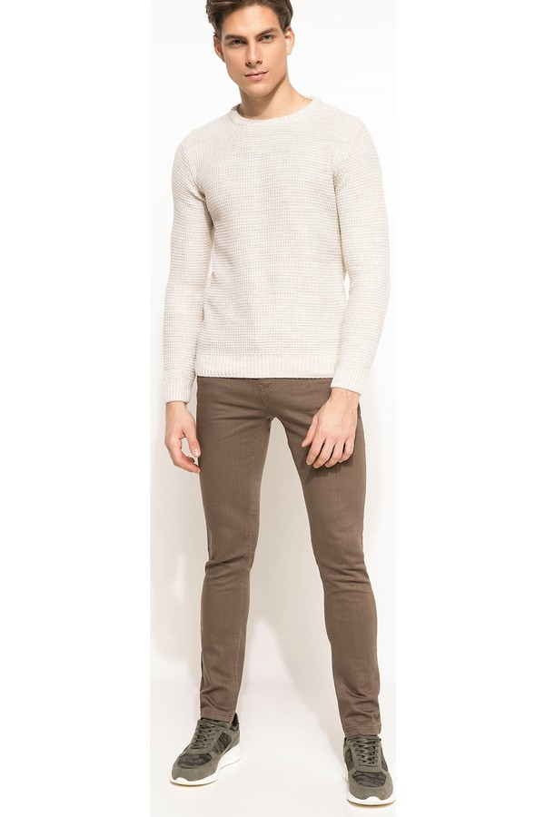 Defacto Men's Carlo Skinny Fit Low-Waist Extra Trousers