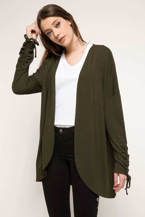 Detailed defacto Women Sleeve Long Cardigan
