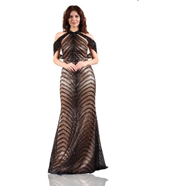 9fe1c9b0f8963 Pierre Cardin Siyah Şal Yaka Balık Abiye Elbise - 46 Fiyatları ...