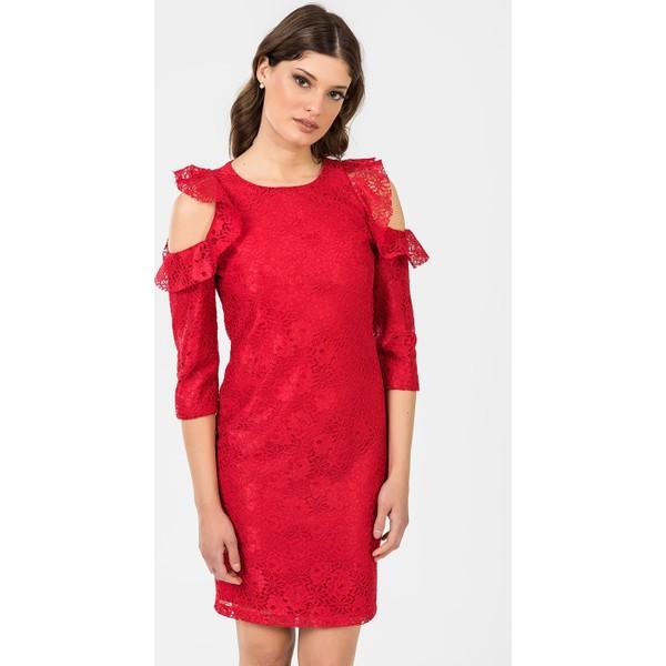 40e0a827ffd9d İroni Kol Detaylı Dantel Elbise 51951239 Kırmızı - S Fiyatları ...