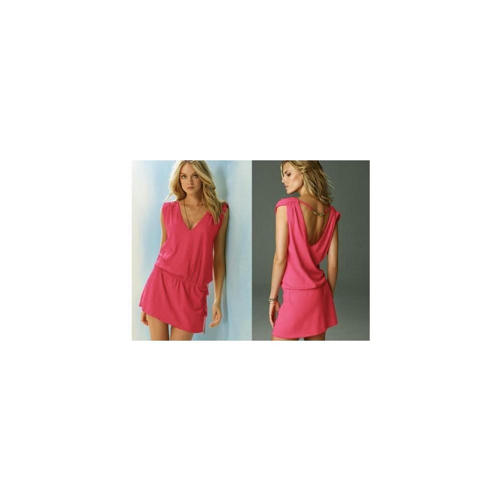 d9aa21fc6b596 Pratik Yeni Trend Şık Yazlık Elbise (Pembe Beden:4) Fiyatı