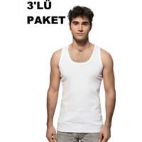 Özkan 3'Lü Paket Erkek Ribana Atlet 0113 Beyaz