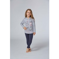 Roly Poly 2962 - Üç İplik Kız Çocuk Taytlı Pijama Takımı