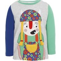 Soo be Erkek Çocuk Viking Princess Uzun Kol T-Shirt Gri Melanj