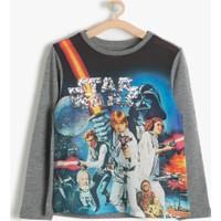 Koton Kids Kız Çocuk Star Wars Baskılı T-Shirt Gri
