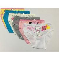 Elif Çamaşır 6'Lı Paket Kız Çocuk Külot Asorti