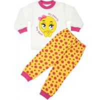 Modakids Kız Bebek Utangaç Emojili 2'li Pijama Takım 037-886254-021